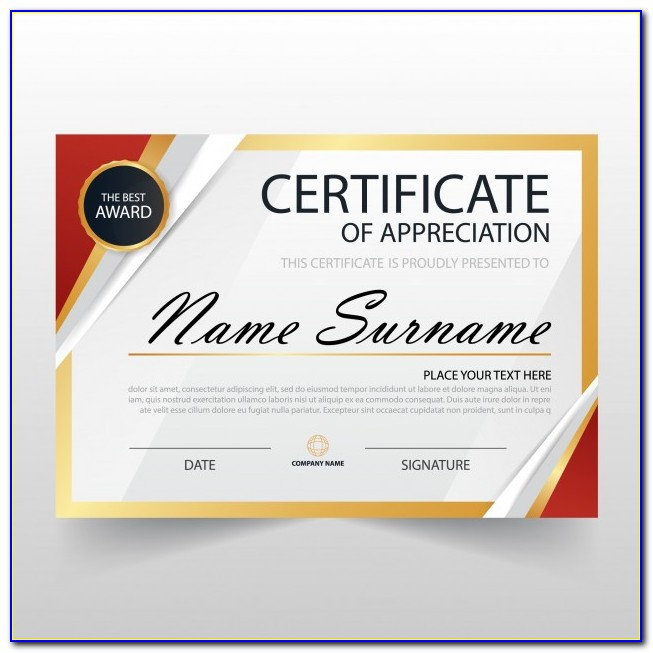 Certificate Of Special Recognition Templates