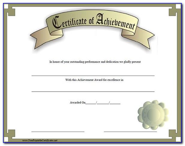 Certificates Of Academic Achievement Templates