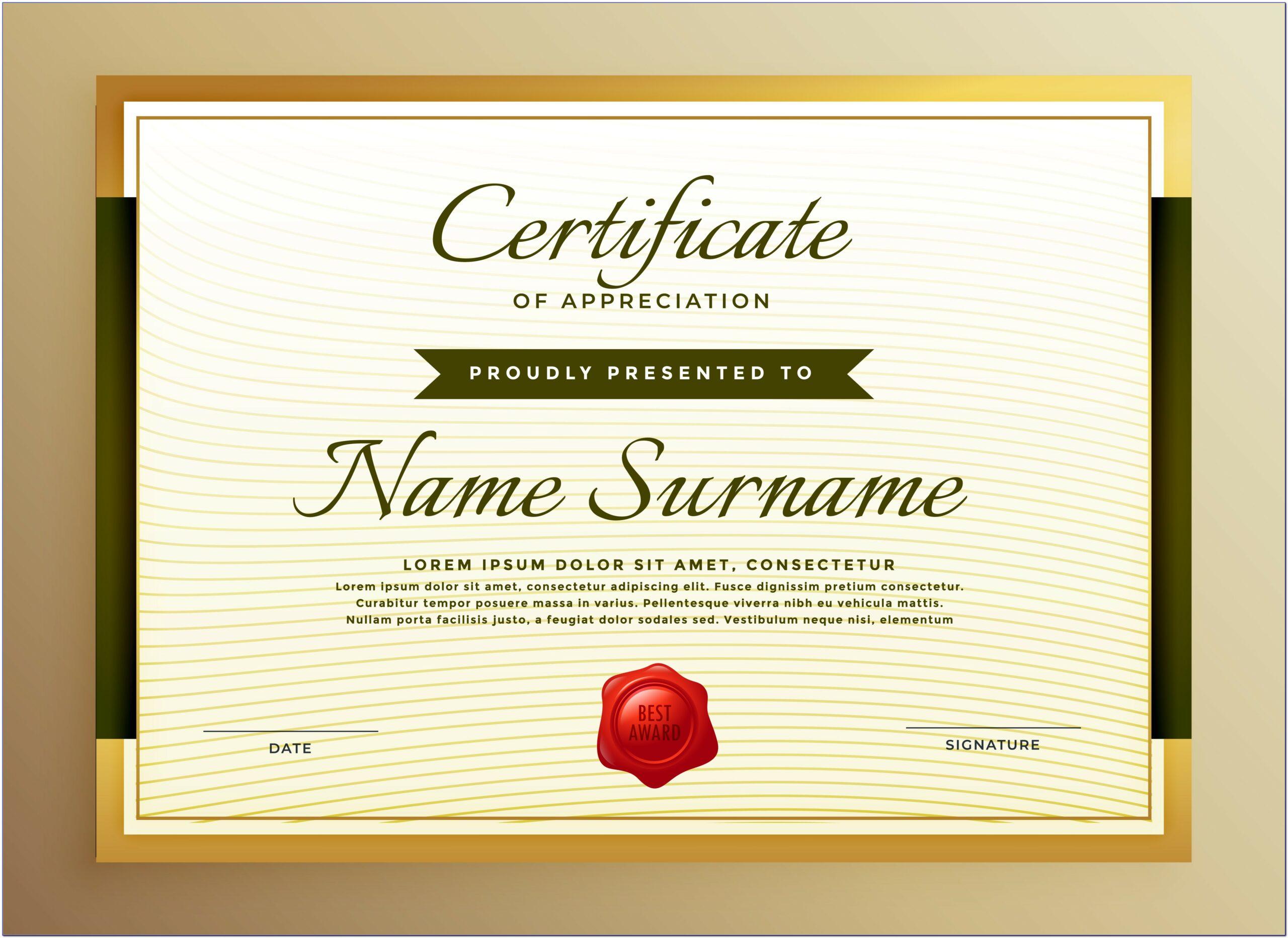Certificates Of Appreciation For Teachers Templates