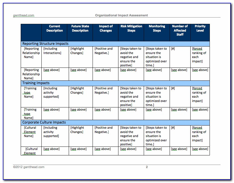 Change Management Plan Template Excel