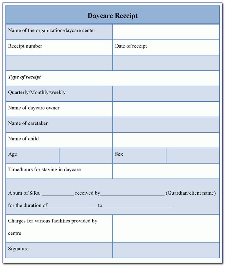 Child Care Invoice Example