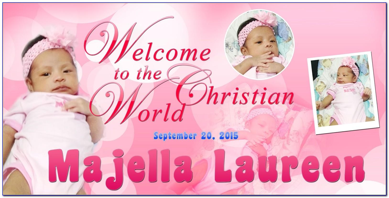 Christening Invitation Layout Free Download