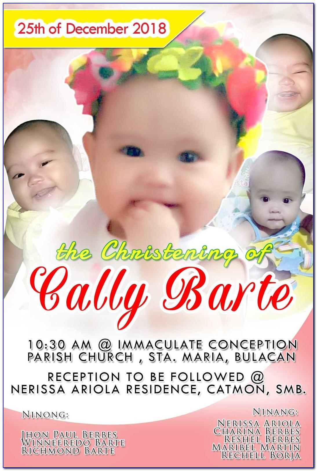 Christening Invitation Samples Free