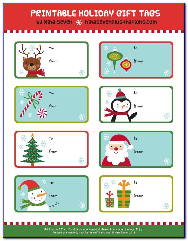 Christmas Gift Tags Free Printable Black And White