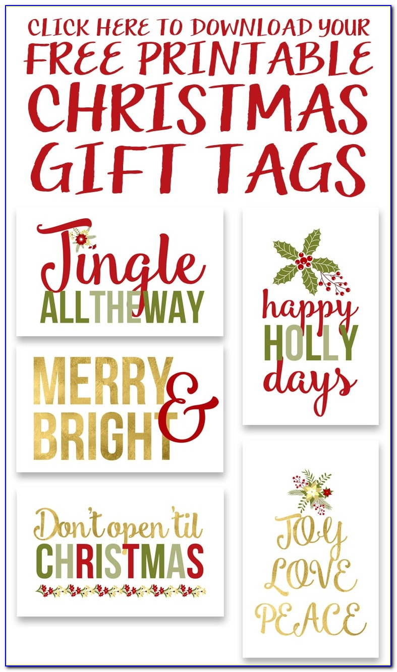 Christmas Gift Tags Free Printable Personalized