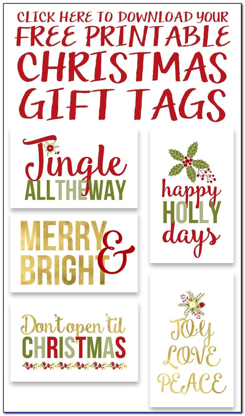 Christmas Gift Tags Printable Free