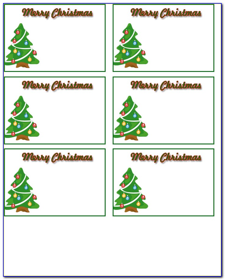 Christmas Gift Tags Templates Free Download
