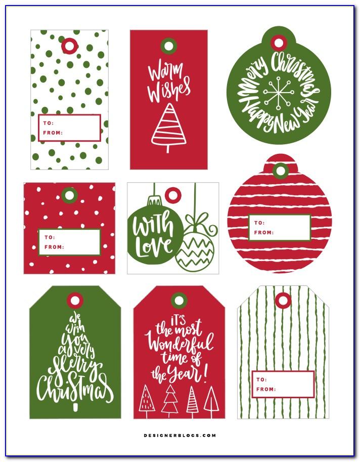 Christmas Gift Tags Templates Free