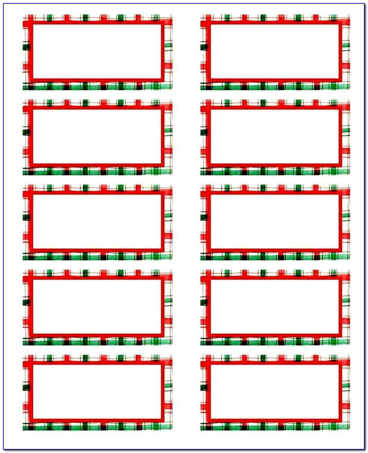 Christmas Holiday Label Templates