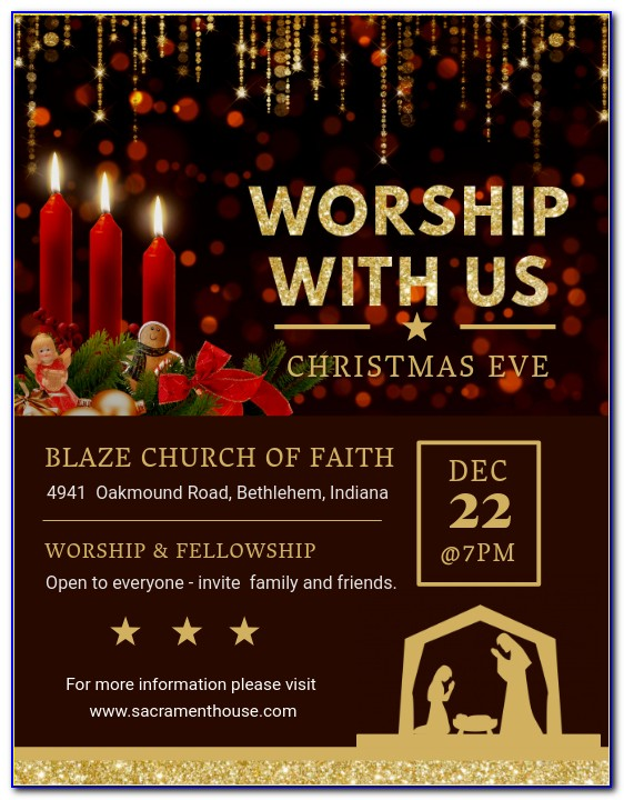 Christmas Invitation Template Free Printable