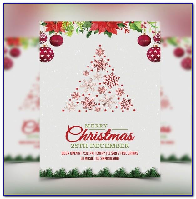 Christmas Invitation Template Printable Free