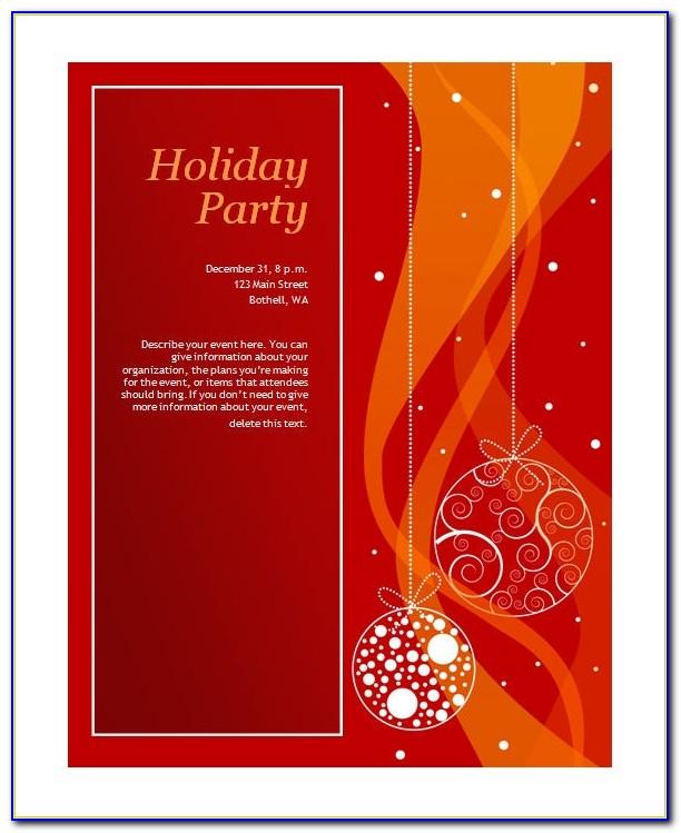 Christmas Invitation Template Printable