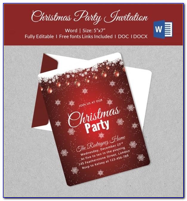 Christmas Invitation Templates Printable