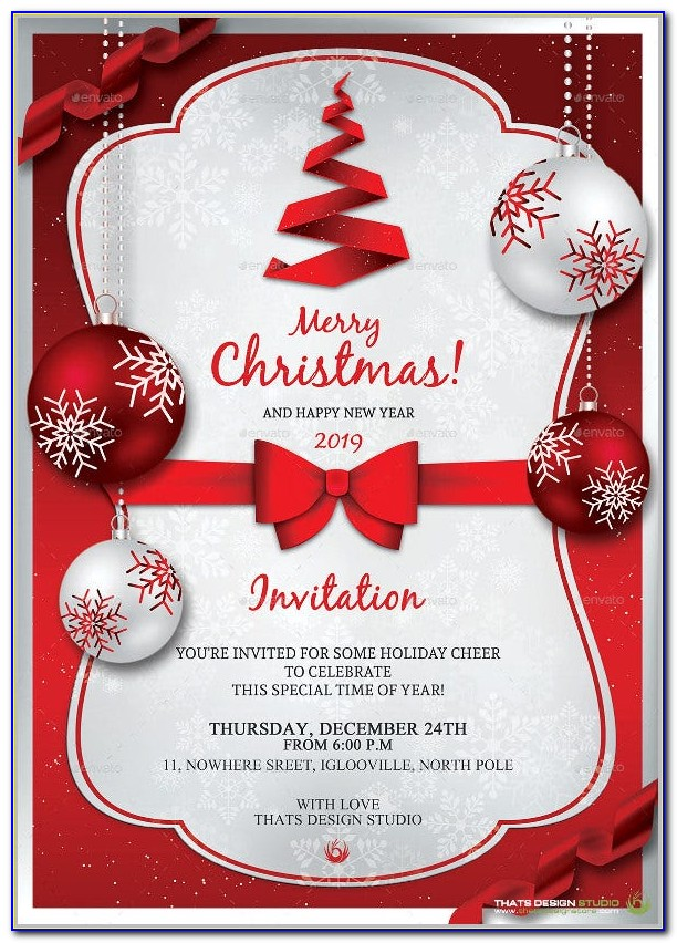 Christmas Invitations Templates Free Microsoft