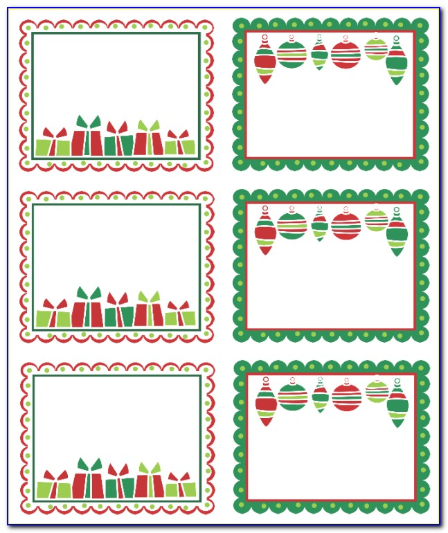 Christmas Mailing Label Templates