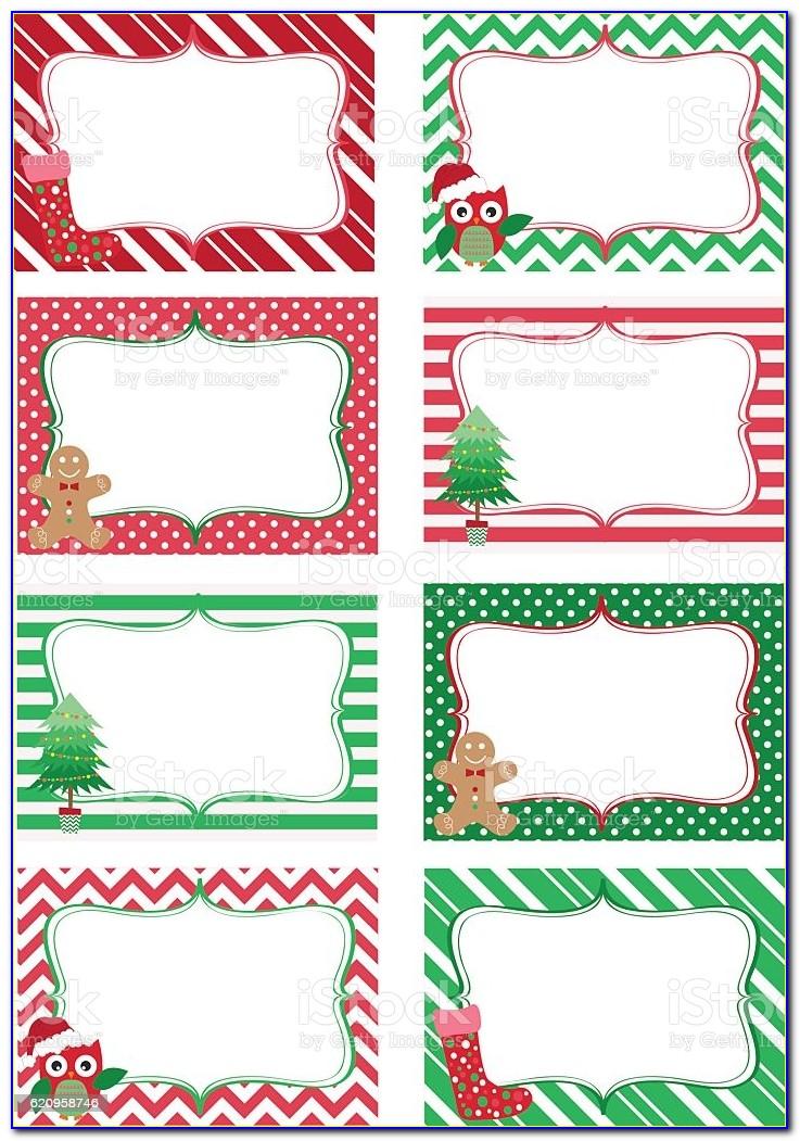 Christmas Name Tag Free Printable