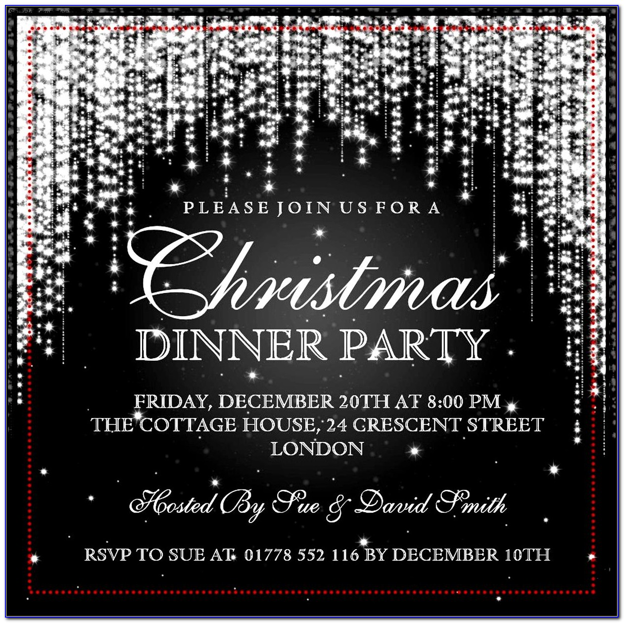 Christmas Party Invitation Template Free Word