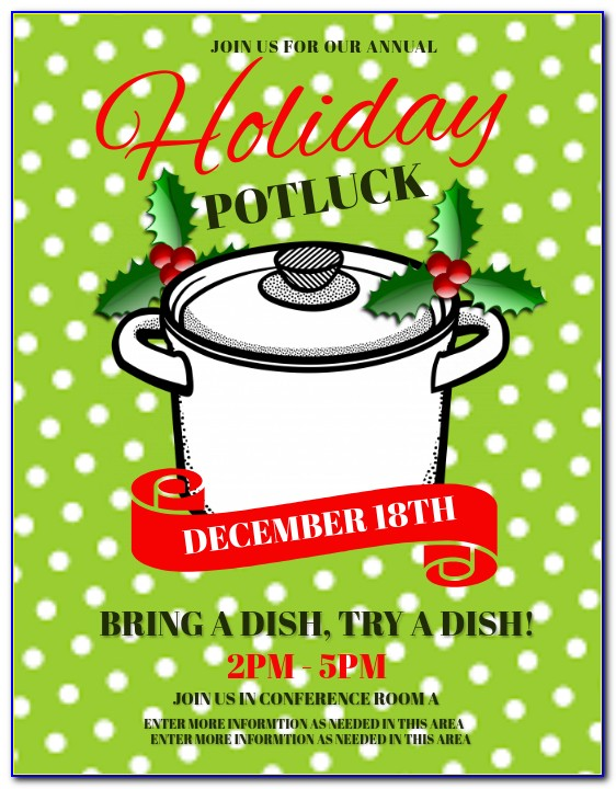 Christmas Potluck Invite Template