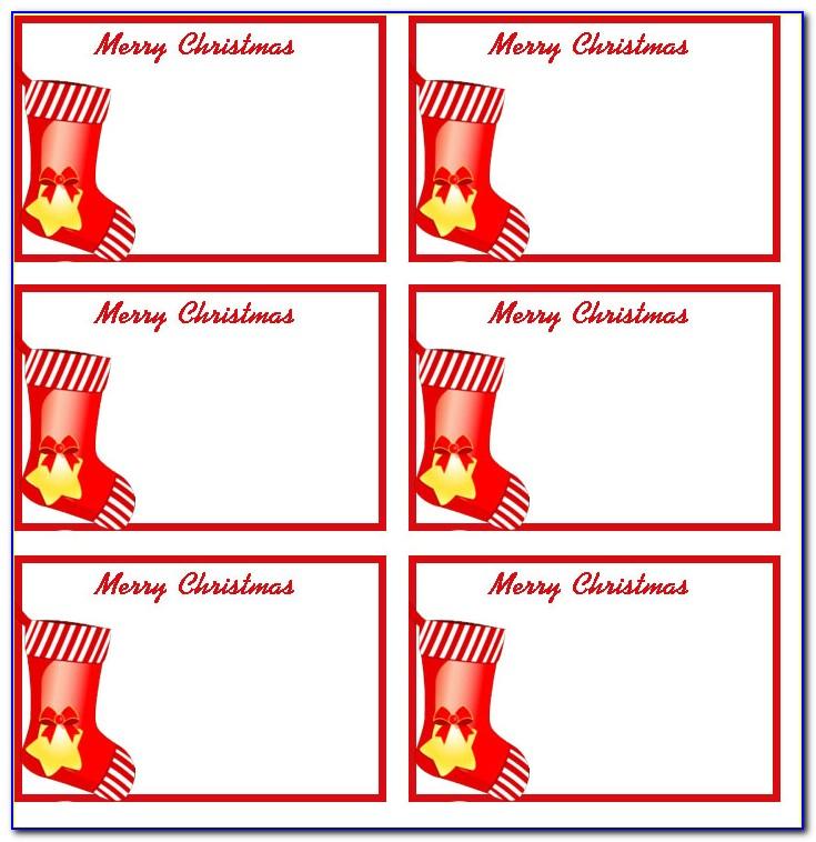Christmas Present Tags Printable Free