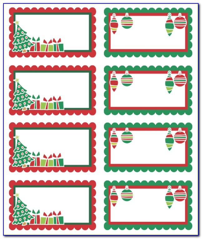 Christmas Return Address Label Template