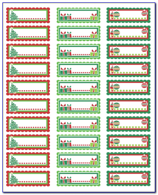 Christmas Shipping Label Templates
