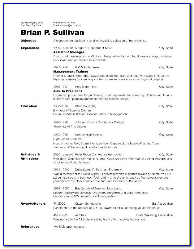 Chronological Cv Template Free Download