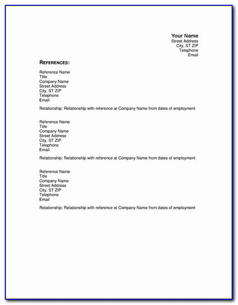 Chronological Resume Template For Students