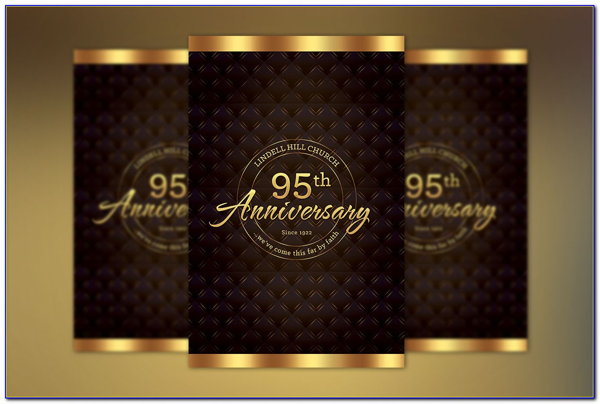 Church Anniversary Booklet Templates