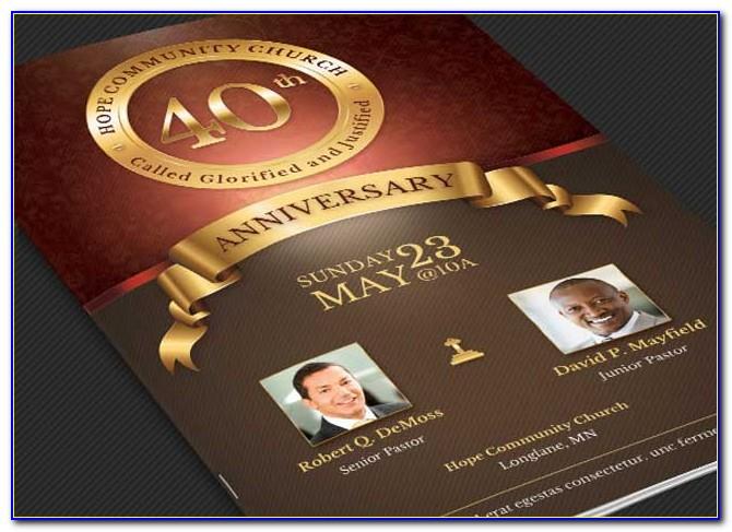 Church Anniversary Program Templates