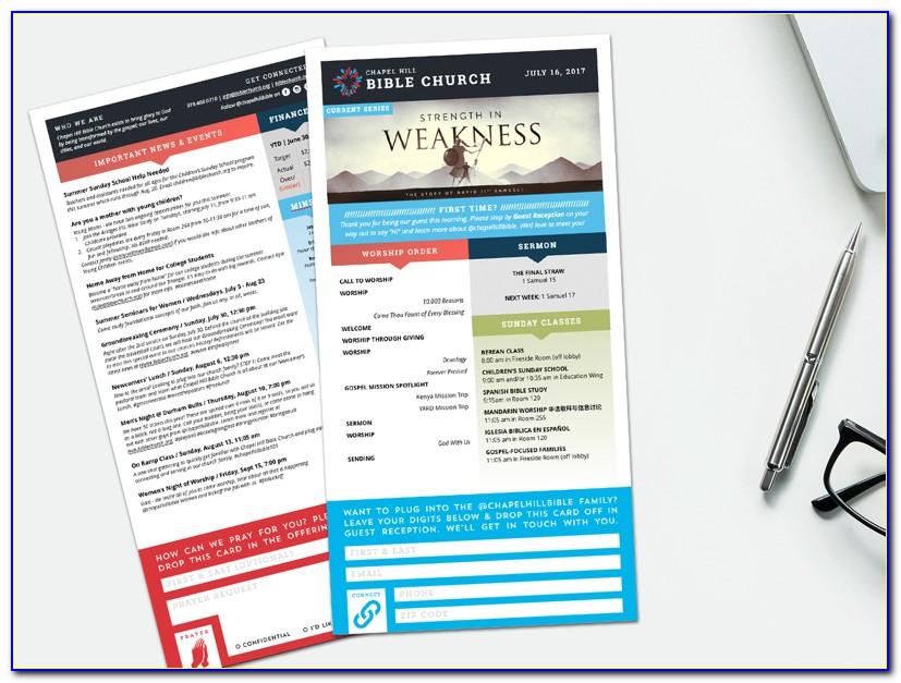 Church Bulletin Templates For Mac