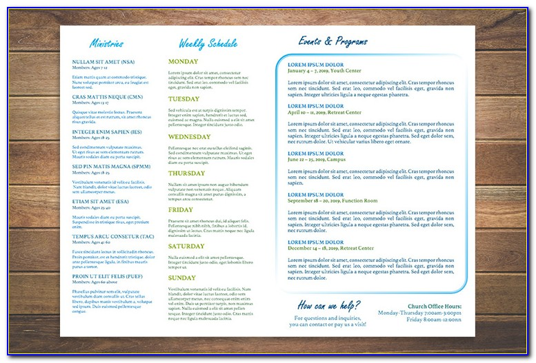 Church Bulletin Templates Free Download