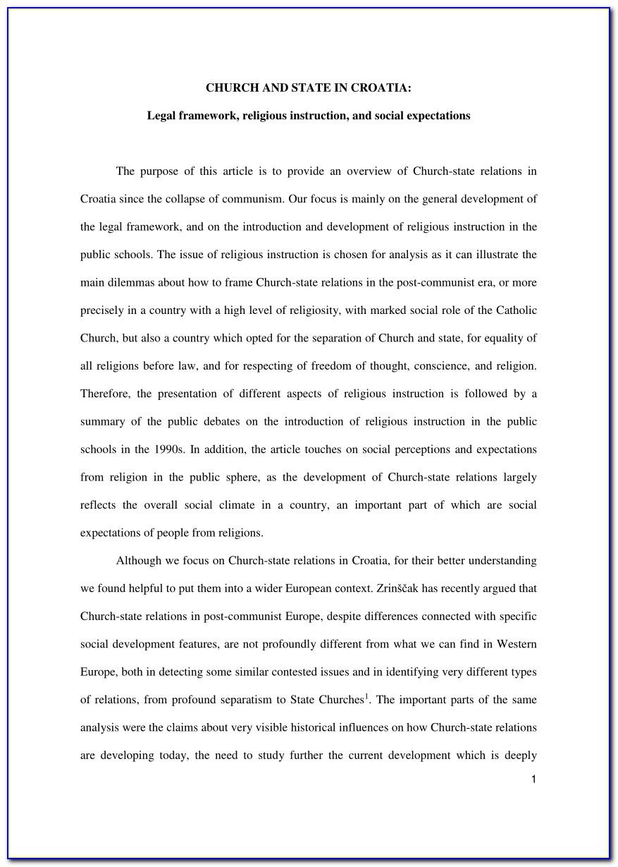 Church Constitution Sample Doc
