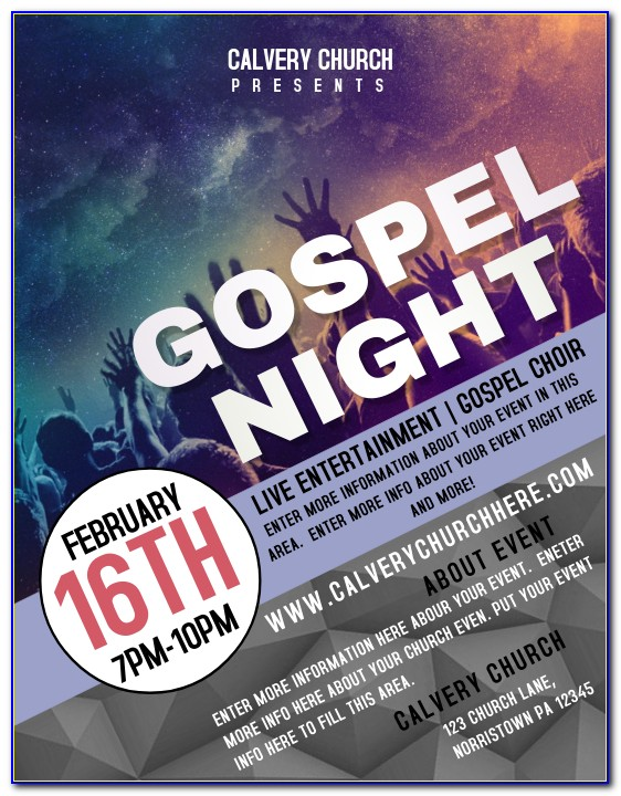 Church Event Flyer Templates Free