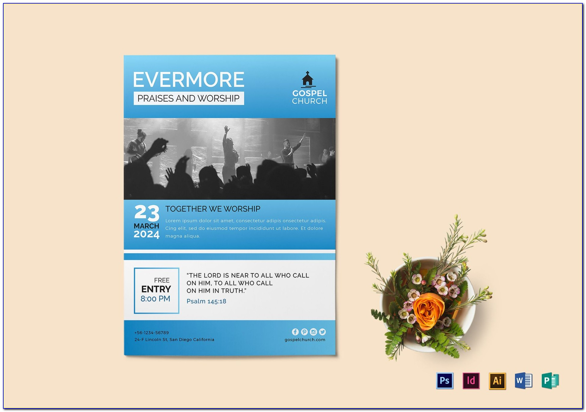 Church Flyer Template Word