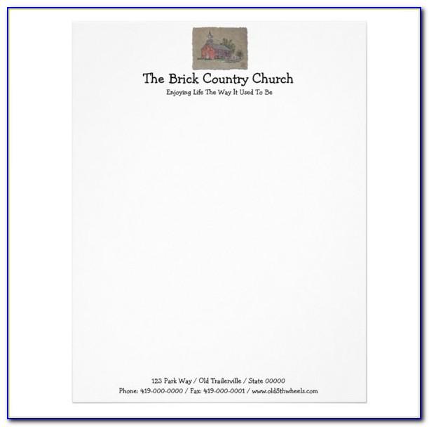 Church Letterhead Templates Free