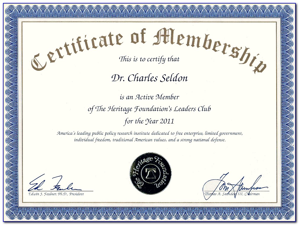 Church Membership Certificate Printable