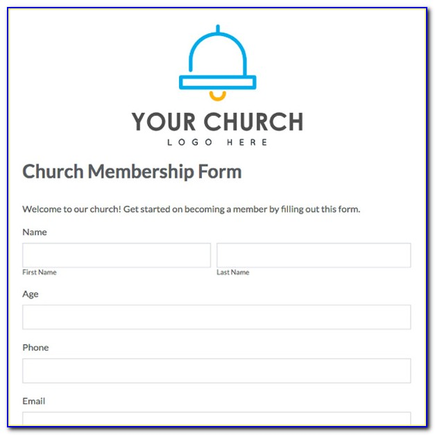 Church Membership Database Template