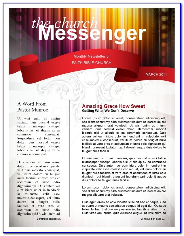 Church Newsletter Templates Microsoft Word Free