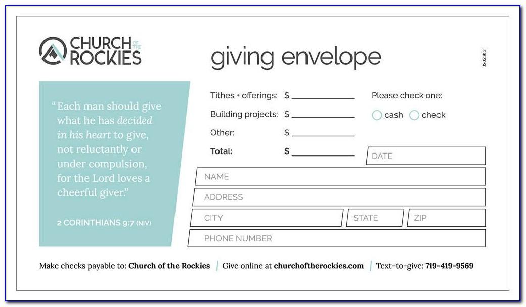 Church Tithe Envelopes Template