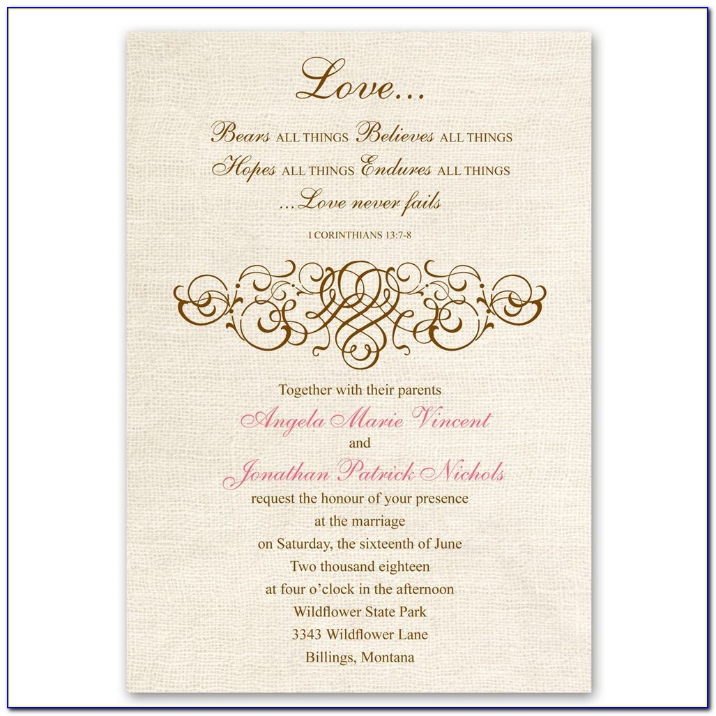 Church Wedding Bulletin Templates