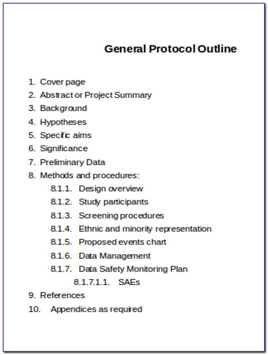 Clinical Study Protocol Template Ich