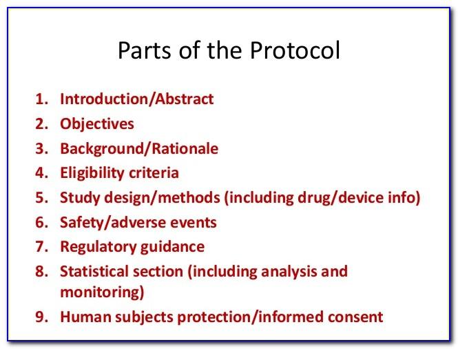 Clinical Trial Protocol Template Fda