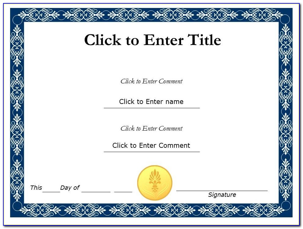 Deped Certificate Of Recognition Template Free Download