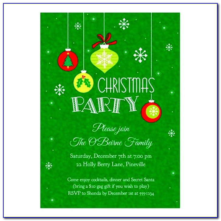 Editable Christmas Invitations Templates Free