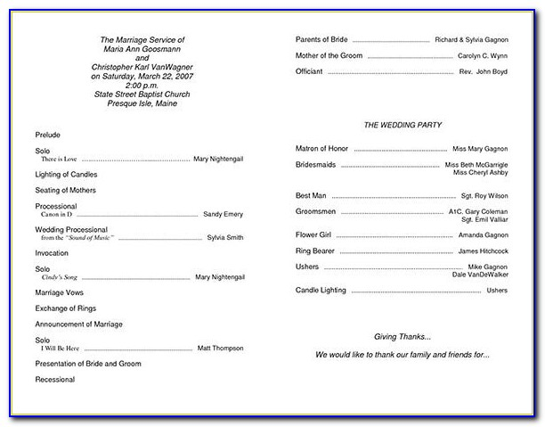 Free Ceremony Program Templates