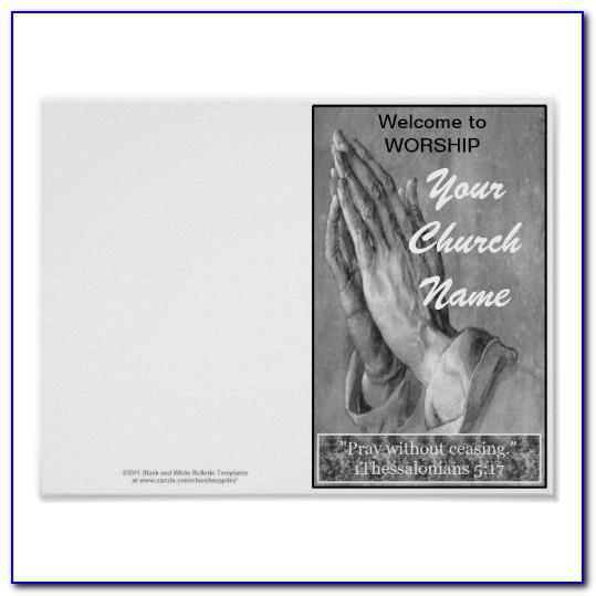 Free Church Bulletin Template Downloads