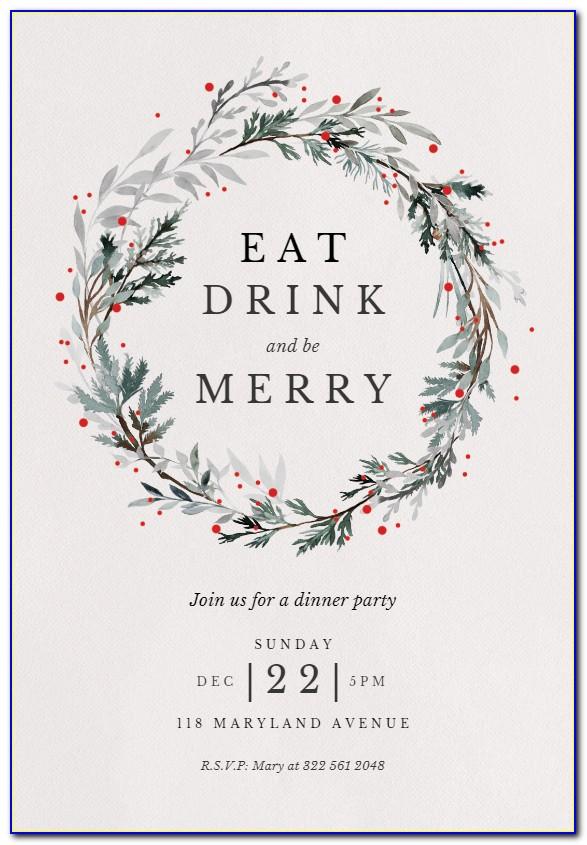 Free Printable Christmas Invitation Templates Greetings Island