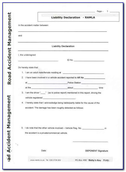 Motor Vehicle Accident Settlement Agreement Sample