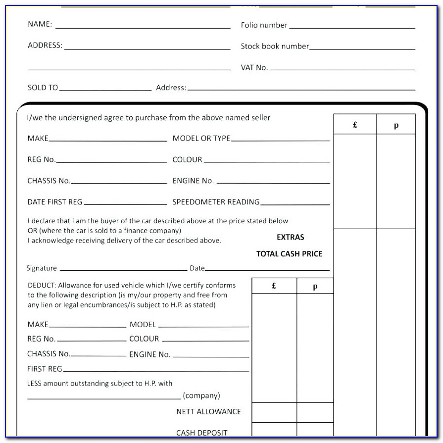 Private Car Sale Agreement Template Uk