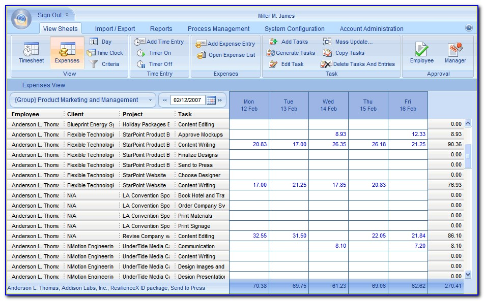Small Business Expense Tracker Template